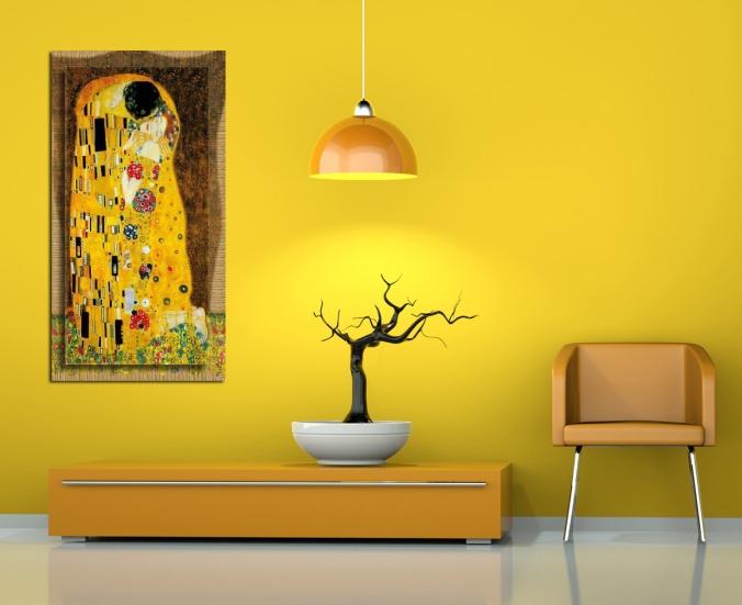 3d Rendering orangener Stuhl